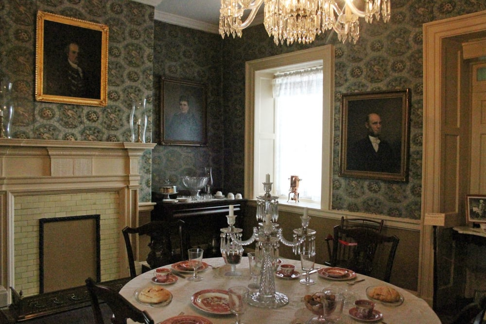 The dining room within the renovated LeMoyne House.