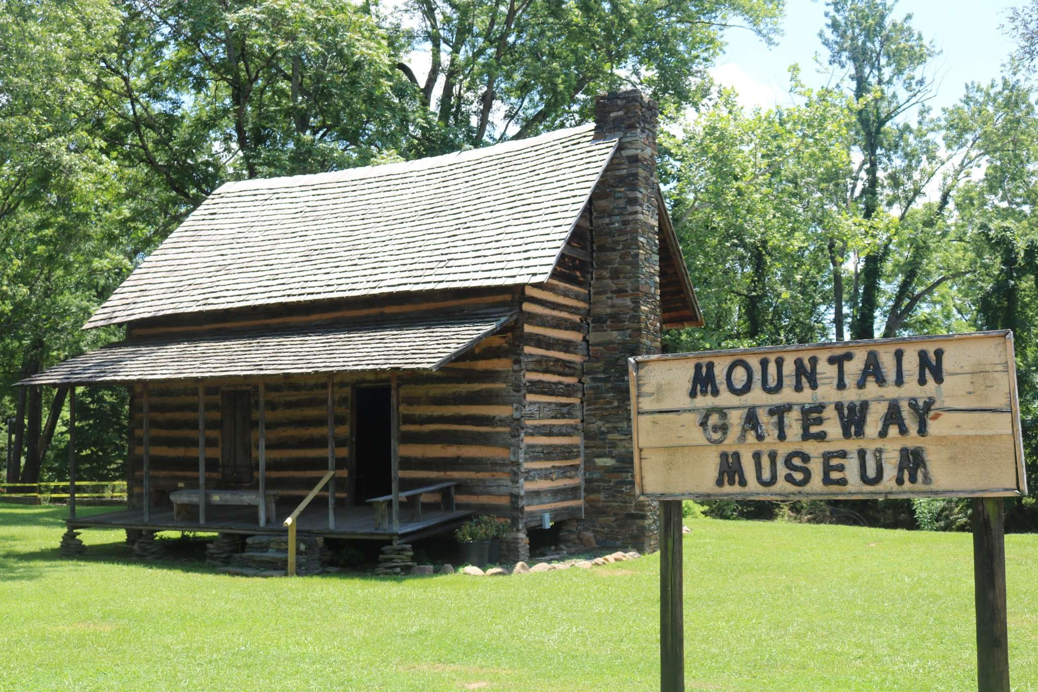 One of the cabins on the museum grounds