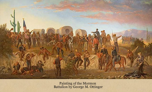 George Ottinger paiting of the Battalion in AZ