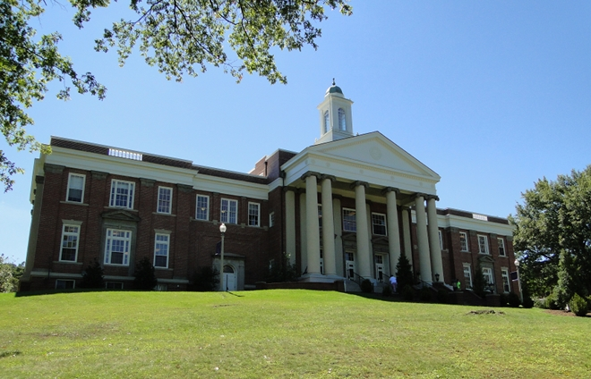 The historic Wiley Hall was built in 1929.