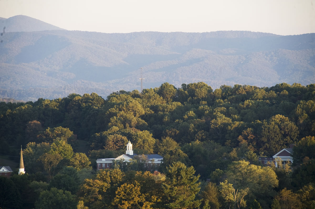 View of the historic Emory & Henry Campus and its surrounding scenery.