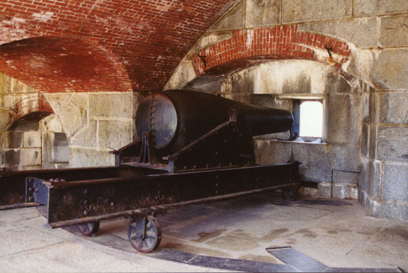 One of the many large canons at the fort