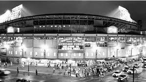 View outside of Wrigley Field before the first night game on August 8, 1988.