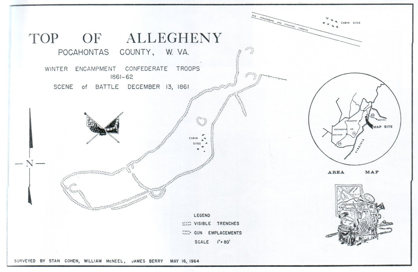 Map of the Confederate camp and battlefield.