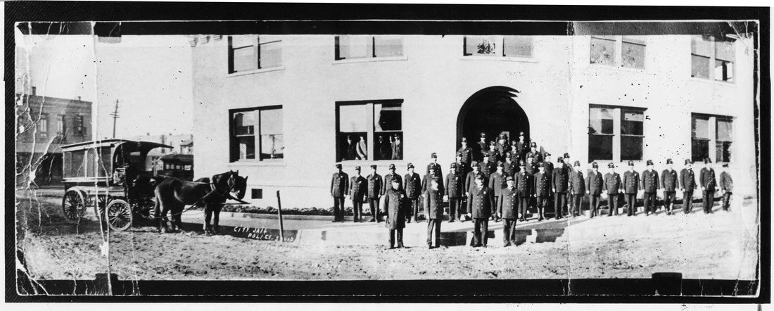 This photo of the building that now houses the museum was taken December 12, 1909, shortly after it opened as the city jail.