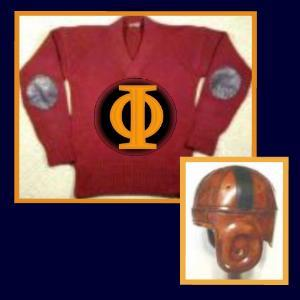 Football jersey and helmet of the Oorang Airedales football team
