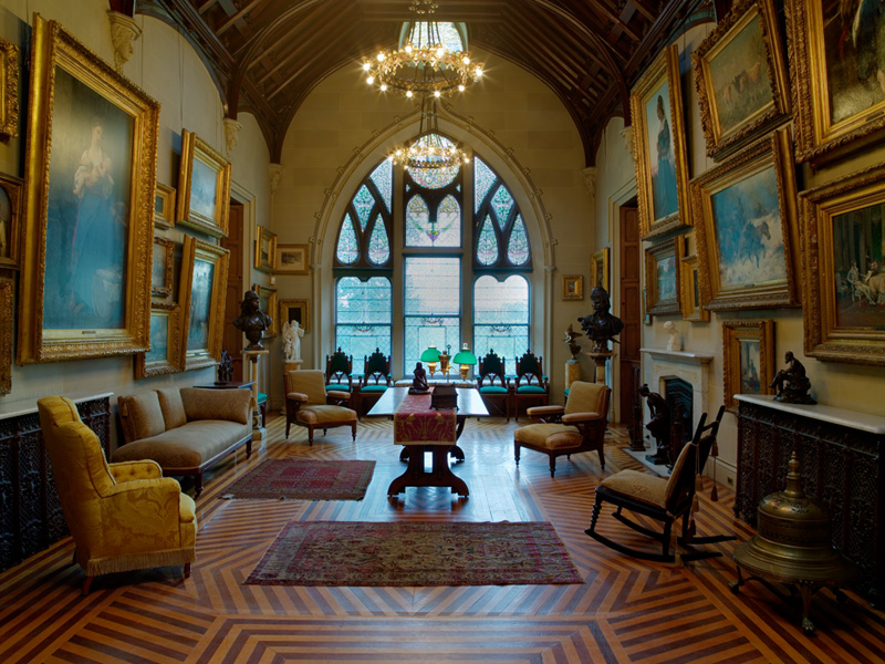 The inside of one of the rooms in the Lyndhurst mansion