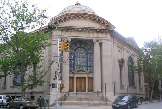 Exterior of the Congregation Beth Elohim  Taken from http://www.tabletmag.com/scroll/100367/beth-elohim-wins-250k-preservation-grant.  Accessed on 10/28/2015