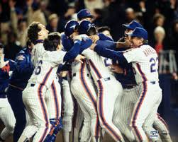 Moments after the final out to clinch the second World Series for the Mets
