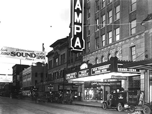 Tampa theater in the 1920s.