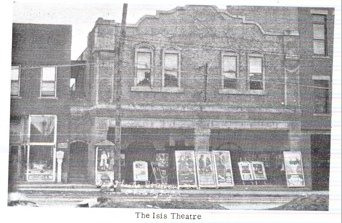 Isis Theater - burnt in 1930s - by St. Albans Historical Society