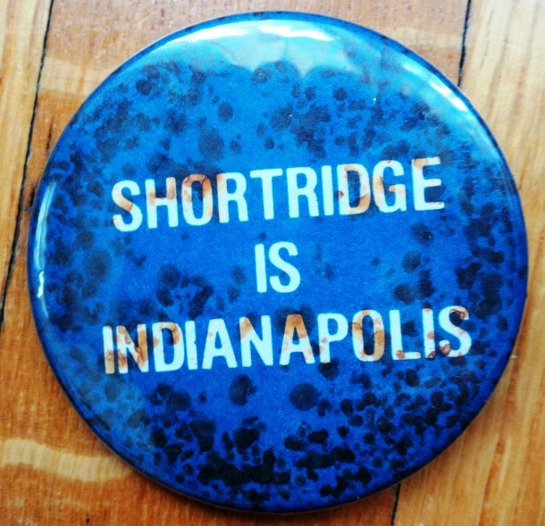 Button from failed campaign by alumni to prevent school closure in 1981