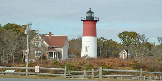 Photo courtesy of T.S. Custadio.  The Eastham Nauset Lighthouse.