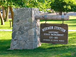 Entrance sign to Mormon Station
