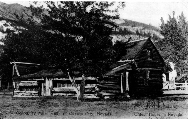 One of the oldest known photos of Mormon Station. 1850s Courtesy of The Church of Jesus Christ of Latter-day Saints