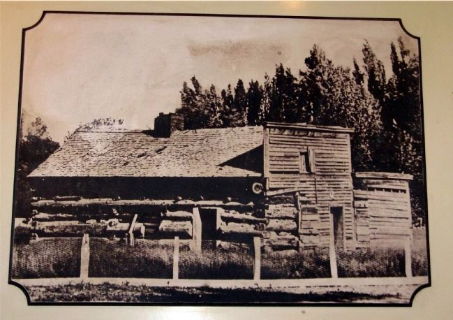 One of the earliest photo of the original Mormon Station, 1850s