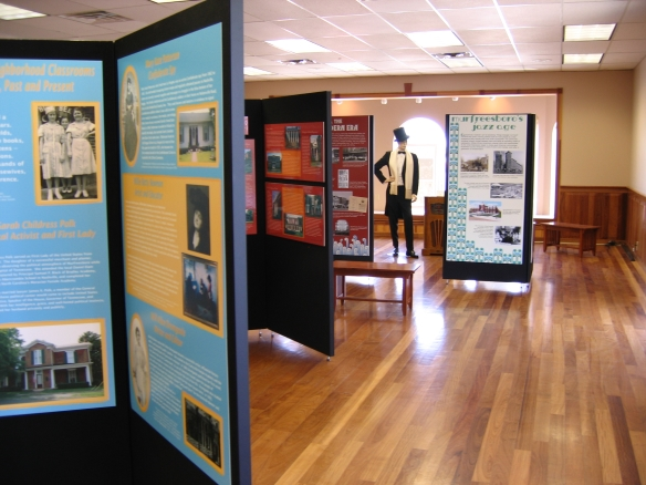 Exhibits within the Heritage Center.