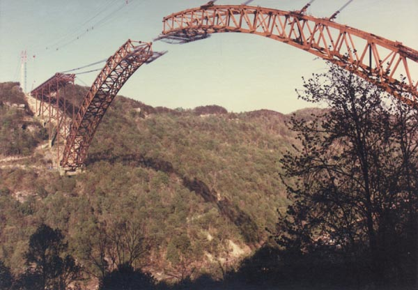 Construction of the New River Gorge Bridge