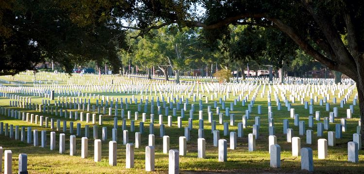 Barrancas National Cemetery.