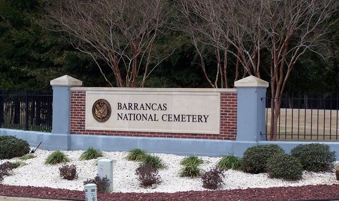 Entrance of Barrancas National Cemetery.