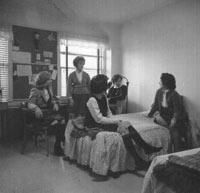 Dorm room in the 1960s. Courtesy of Converse College