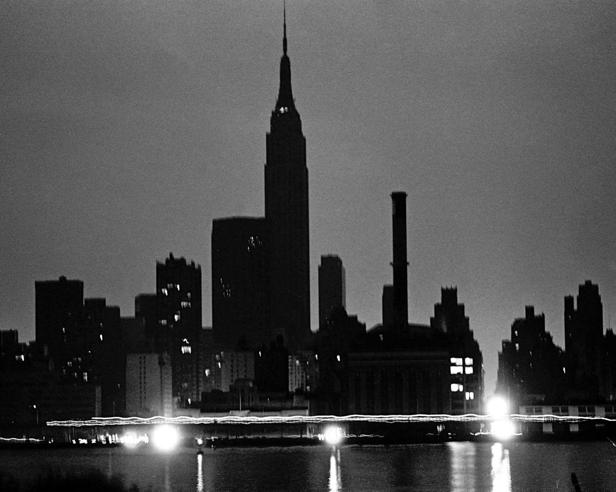 Empire State Building during the blackout. New York Daily News Archive
