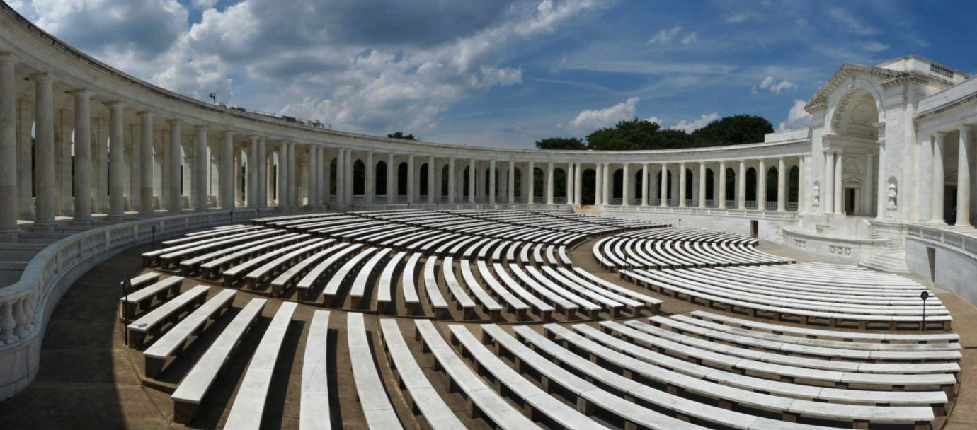 Inside the Memorial Amphitheater located next to the Tomb of the Unknown Soldiers