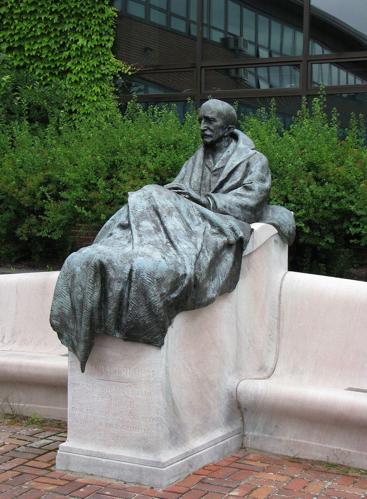 Dr. E.L. Trudeau Statue (2016)