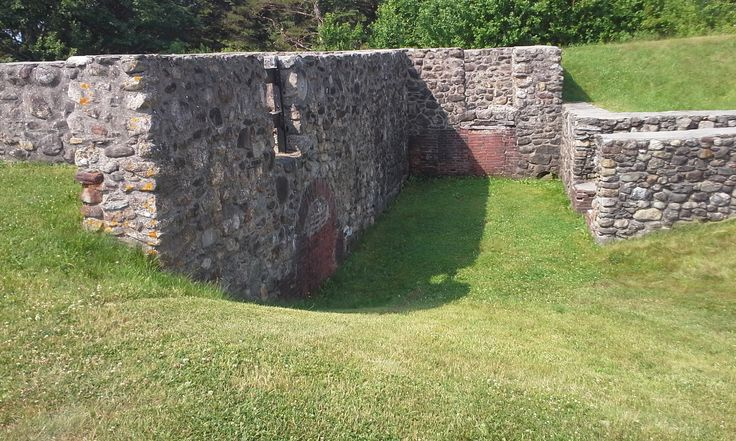 Some of the rebuilt walls at the fort