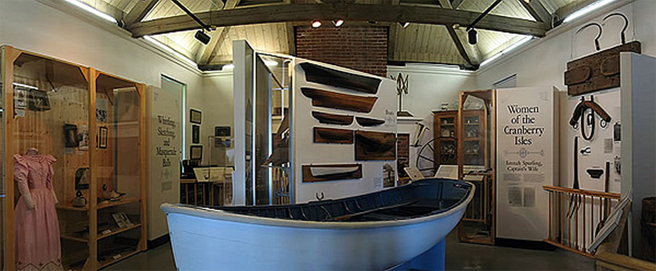 View inside the museum