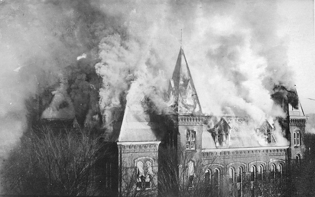 The Downtown Charleston Capitol caught fire on January 3rd, 1921.