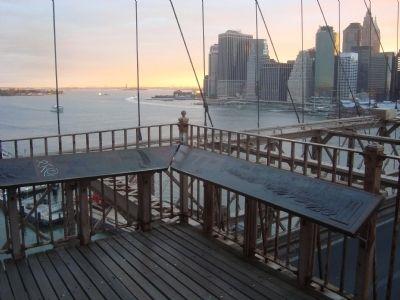 Barry Swackhamer took this photo of the 1883 New York Harbor Marker in 2012.