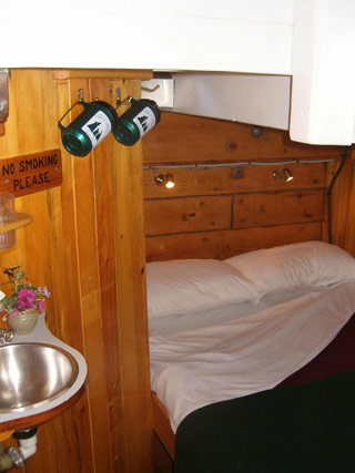 One of the several cabins on board