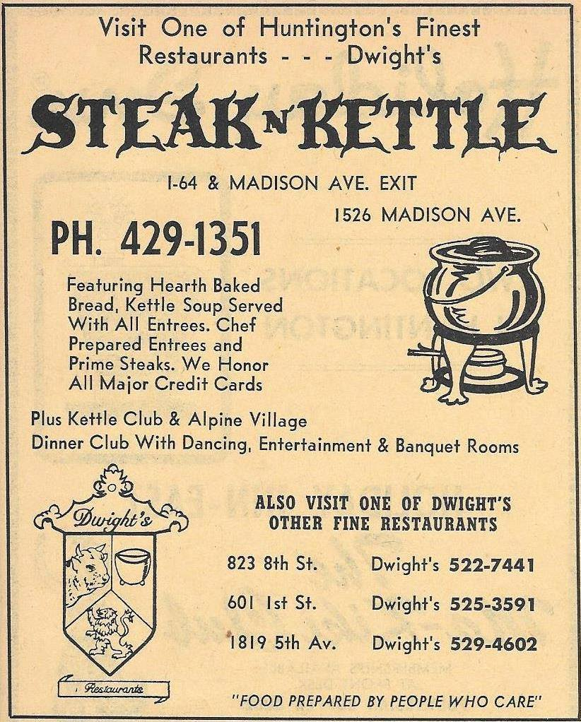 Ad for Steak n Kettle, circa 1973