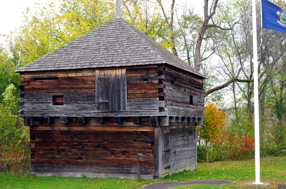 The blockhouse at Fort Halifax