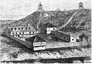 Rendering of what the fort looked like