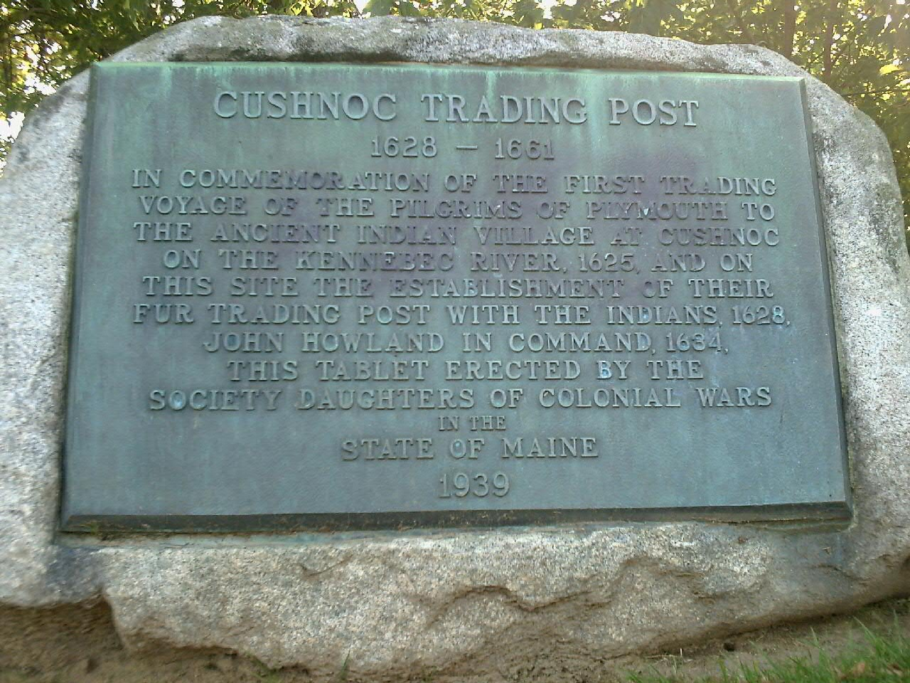 Closeup of the plaque