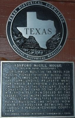 Historical marker for the home