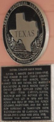 The historical marker for the home