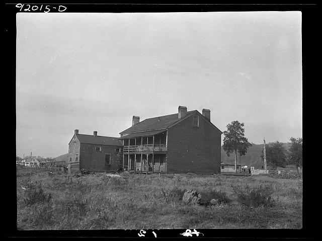 "Back view of the ""Red House""