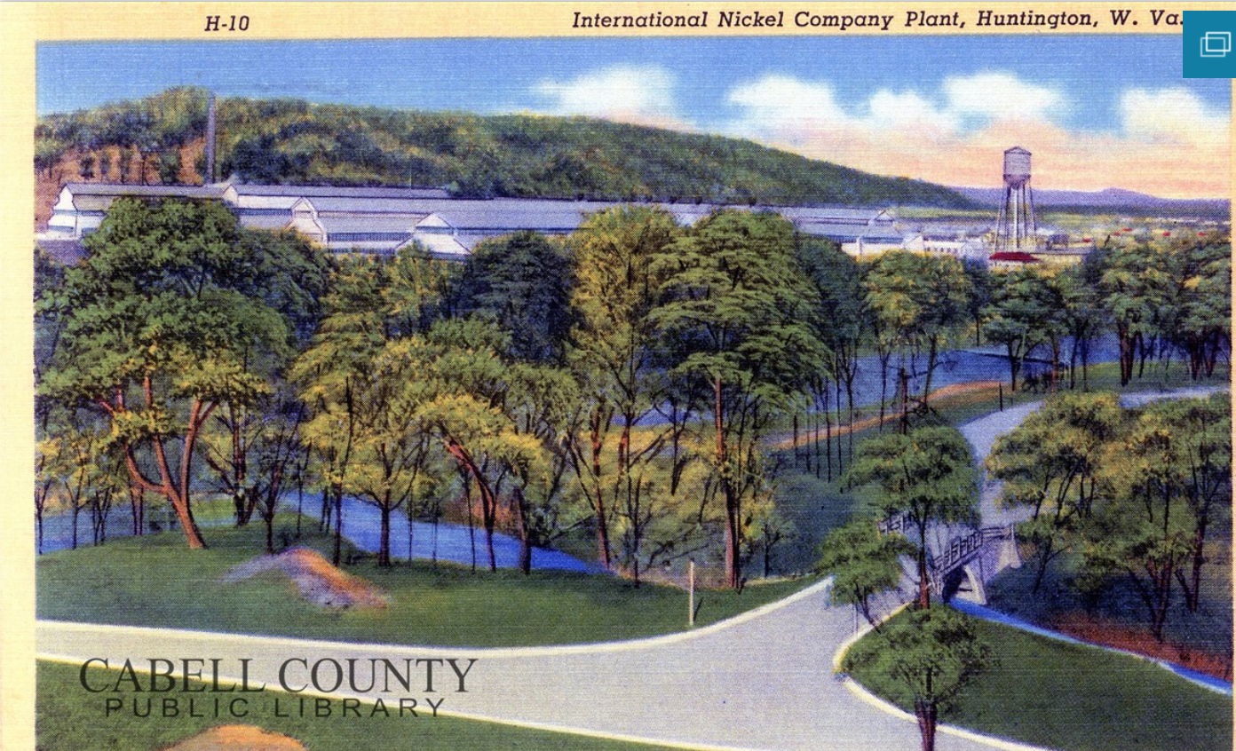 Postcard showing the nickel plant