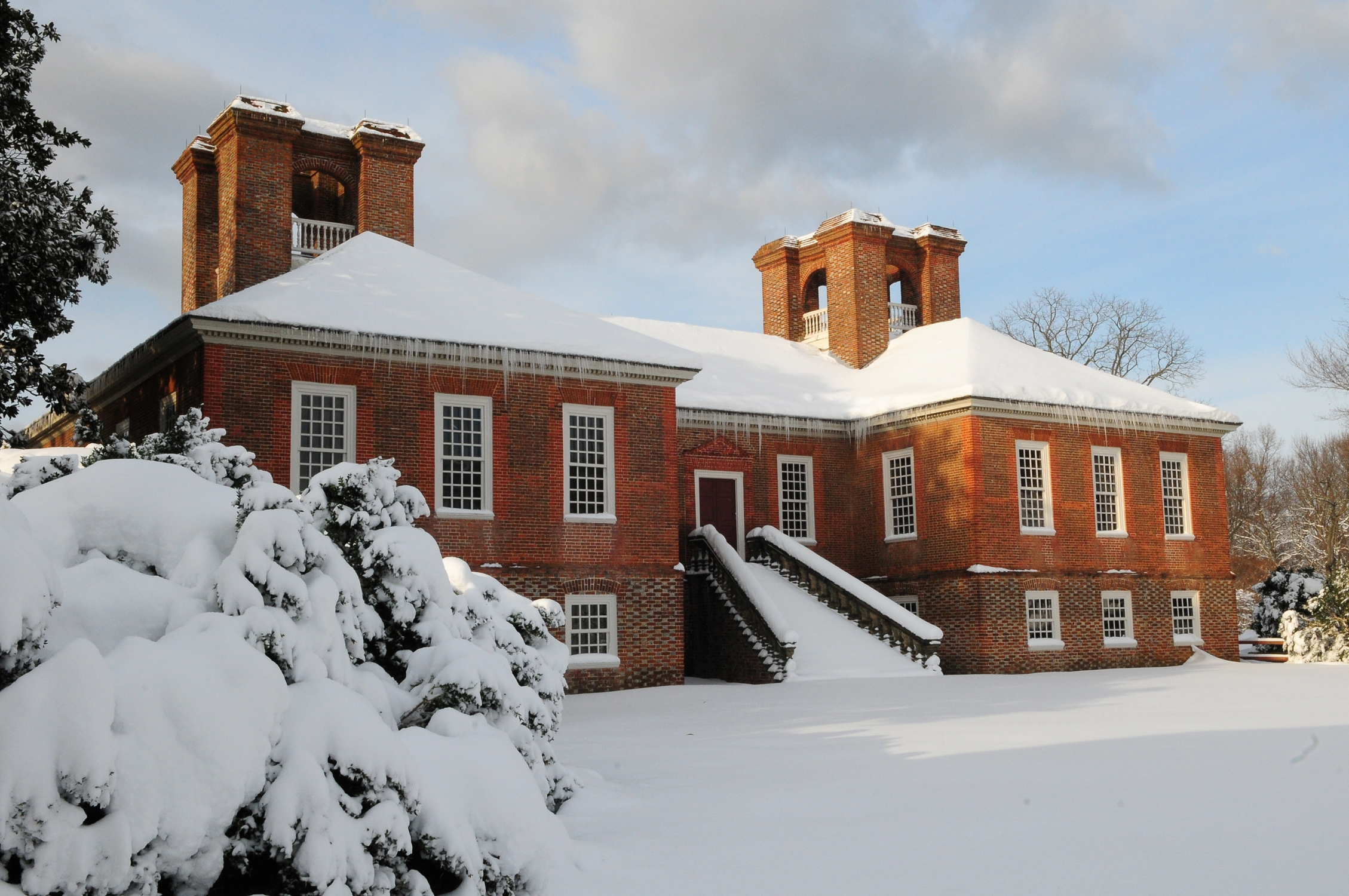 The Great House in the winter.