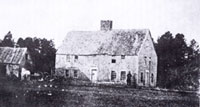 The Smith Homestead as it looked before being razed in 1876