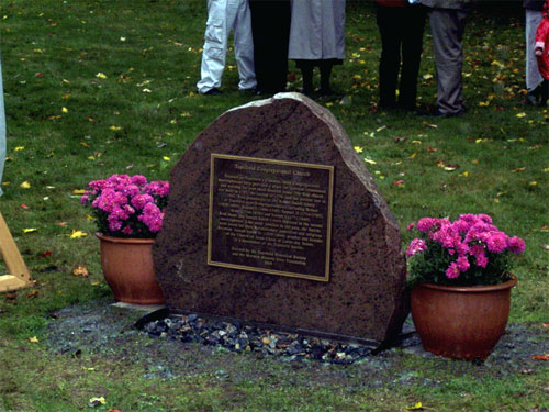 Smith Family and the Congregational Church marker found on church grounds near homestead