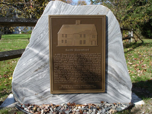 Closeup look of Smith Homestead marker