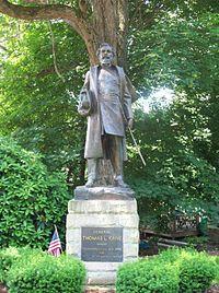 Thomas Kane Statue on church grounds