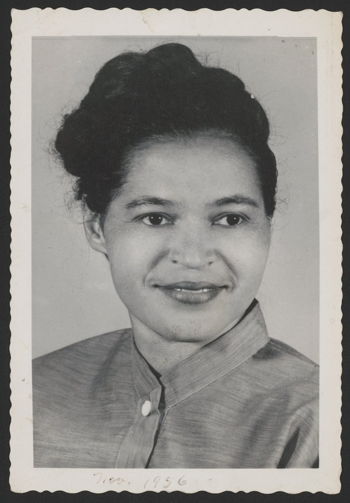 Rosa Parks, pictured in 1956, continued civil rights activism until her death in 2005, campaigning for politicians, participating in marches, advocating for housing equality, and establishing education programs. Courtesy of the Library of Congress.