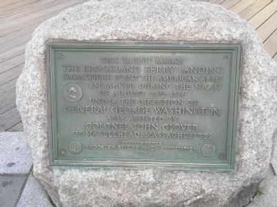 Brookland Ferry Marker. Photo credited to Bill Coughlin
