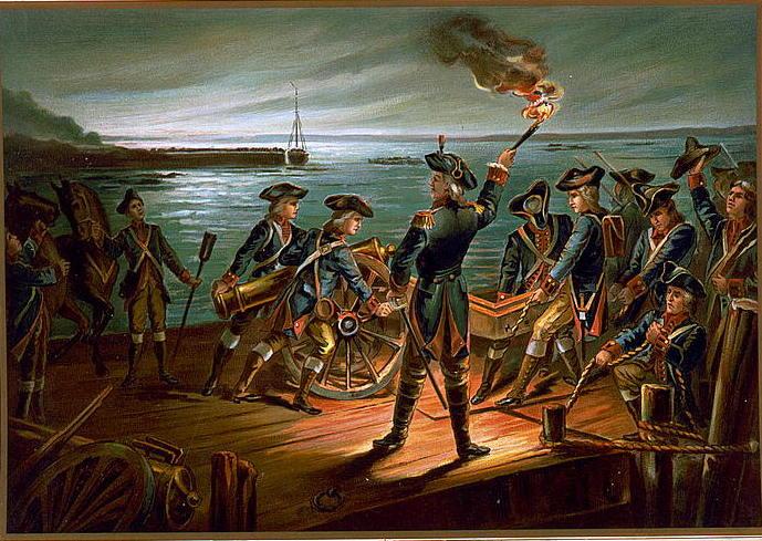 U.S. Army - Artillery Retreat from Long Island 1776