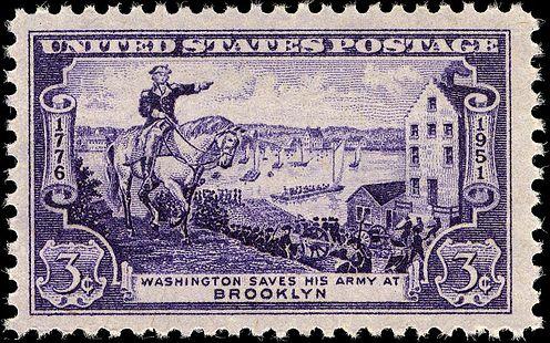 Washington evacuating Army, 175th Anniversary Issue of 1951